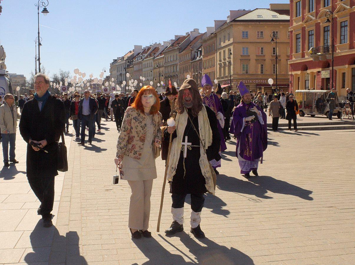 Na trasie Marszu Ateistów
